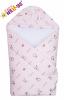 Zavinovačka s kapucí a oušky MINKY/VELUR obrázková - růžová