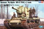 Slepovací model Hobby Boss 1:48 Německý tank Pz.Kpfw KV-2 754 *
