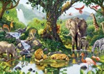 Puzzle Jumbo Oáza v džungli 1000 dílků