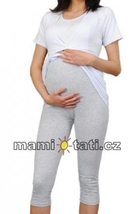 b4282759308 Těhotenské barevné legíny 3 4 délky - šedá