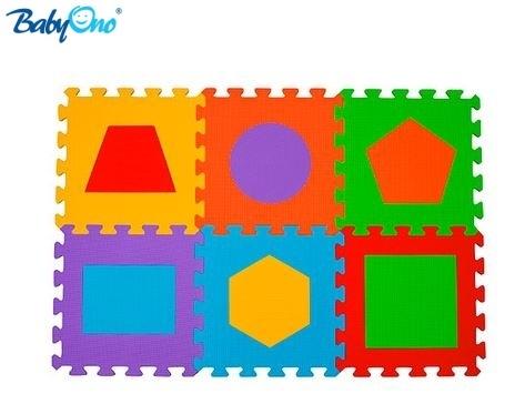BabyOno Pěnové puzzle - Tvary - 6 ks