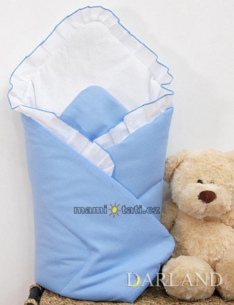 Krásná zavinovačka s volánkem - Medvídek na houpačce modrý