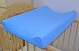 Baby Nellys Froté potah na přebalovací podložku, 70cm x 50cm -  modrý