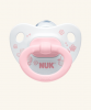 0-6m Dudlík NUK ROSE & BLUE - bílý/růžový