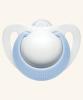 0-6m Dudlík NUK GENIUS - bílo/modrý